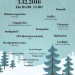Joulumetsä Lammasluodossa 3.12.2016